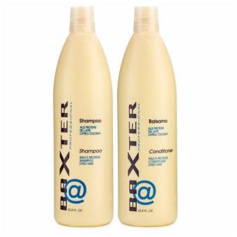 Bộ gội dầu xả giữ màu tóc nhuộm và nuôi dưỡng tóc xoăn Baxter 1000mlx2