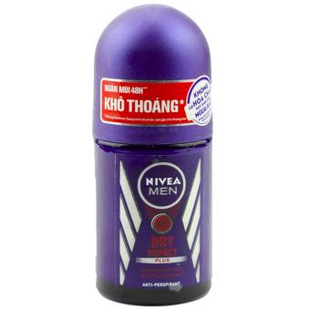 Lăn ngăn mùi nam khô ráo Nivea Men Dry Impact 48h anti-bacterial protection 50ml (Thái Lan)