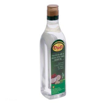 Tinh dầu dừa hữu cơ ép lạnh VIOFL 500ml (Chai vuông)