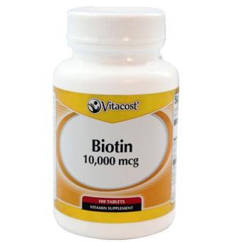 Viên uống mọc tóc Vitacost Biotin 10000mcg 100 viên của Mỹ