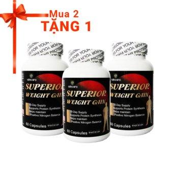 Bộ Viên uống tăng cân tăng cơ Superior Weight Gain + Tặng 1 sản phẩm cùng loại
