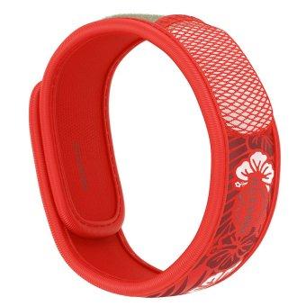 Viên chống muỗi PARA'KITO™ (B2B) kèm vòng đeo tay bằng vải hoa văn đỏ (1 viên chống muỗi)
