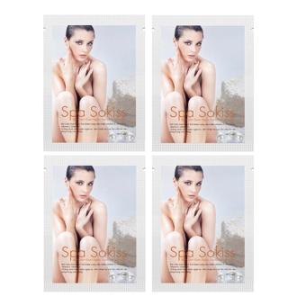 Bộ 4 gói Bột Cám Gạo Ngọc Trai làm trắng sáng da Spa Sokiss 150g x 4