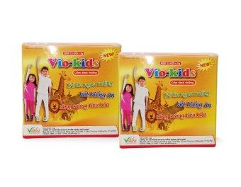 Bộ 2 hộp cốm dinh dưỡng Vioba VIO-KIDS 15 gói x 3g (Vàng)