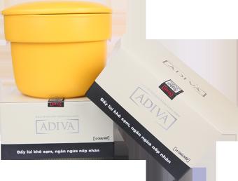 Bộ 2 hộp Collagen ADIVA dạng nước 14 lọ x 30ml + Tặng 1 Nồi sứ Nhật bản (có thể dùng cho bếp điện từ)