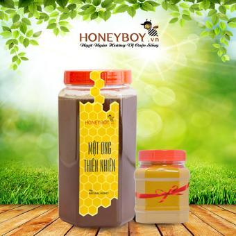 Mật ong thiên nhiên Honeyboy 1kg + Tặng 1 hũ bột nghệ vàng nguyên chất 100g