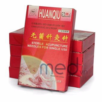 Combo Kim châm cứu Huanquiu 0.35mmx25mm hộp x 100 kim ( MUA 10 TẶNG 1 )