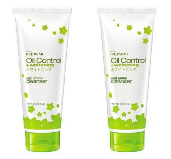 Bộ 2 Kem rửa mặt trắng da và chống nhờn Follow Me Oil Control 100ml