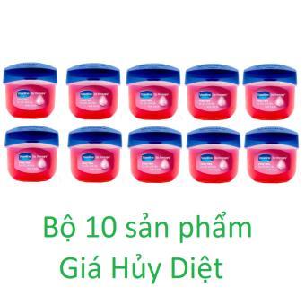 Bộ 10 Sáp dưỡng môi Vaseline Rosy Lips Therapy 7g