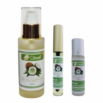 Bộ dầu dừa bé cười 100ml; Mascara và bi lăn dầu dừa 10ml