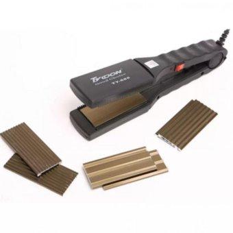 Máy duỗi tóc và bấm tóc 4 kiểu (Đen)