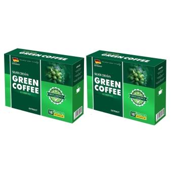 Bộ 2 hộp cà phê giảm cân Silver Crown Green Coffee 2 x 90g