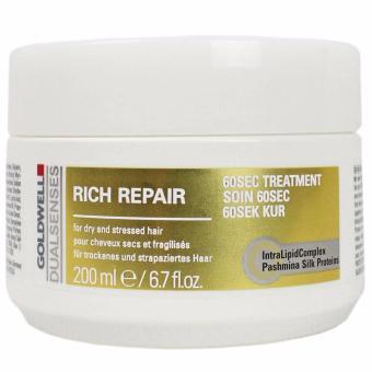 Kem hấp tóc 60s dành cho tóc khô và hư tổn Goldwell Rich Repair 200 ml