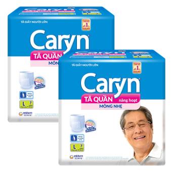 Bộ 2 gói tã quần Unicharm Caryn L7