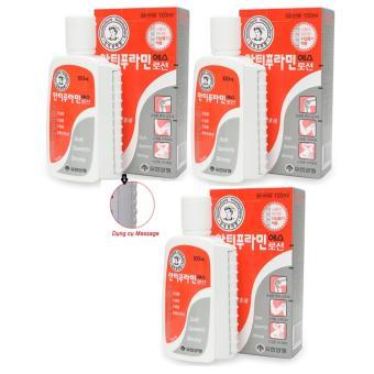 Bộ 3 Hộp Dầu nóng xoa bóp/massage Yuhan Antiphlamine Lotion 100ml/hộp