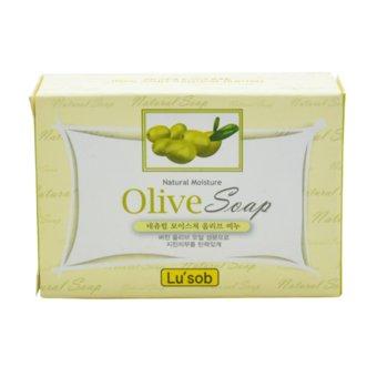 Xà phòng tắm với tinh chất Olive giúp dưỡng ẩm làm mịn da Olive Soap Bánh Hàn Quốc 100g - Hàng Chính Hãng