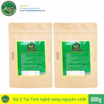 Bộ 2 Túi Tinh bột nghệ vàng Tinh Nghệ Quê Hương 500g (Nâu)