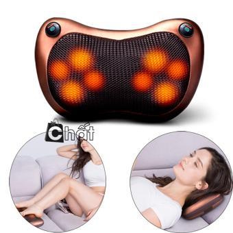 Gối Massage Hồng Ngoại Cao Cấp Loại 8 Bi