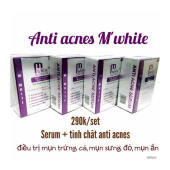 Set trị mụn anti acne serum M'white 25ml