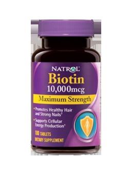Viên uống mọc tóc Natrol Biotin 100 viên
