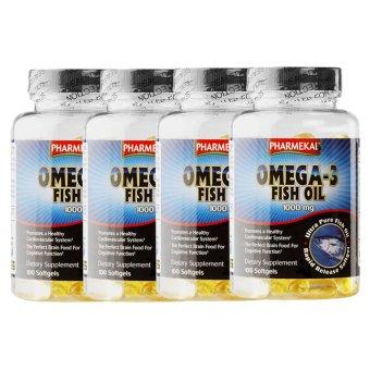 Bộ 4 hộp viên dầu cá Pharmekal Omega-3 1000mg 100 viên