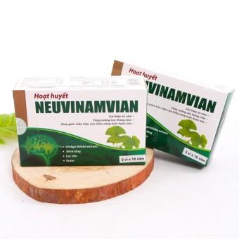 Bộ 2 hộp Hoạt huyết Neuvinamvian dưỡng não an thần