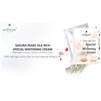 Kem tắm trắng ngọc trai tơ tằm Sakura Pearl Silk Rich Special Whitening Mask Cream 110g (Trắng)