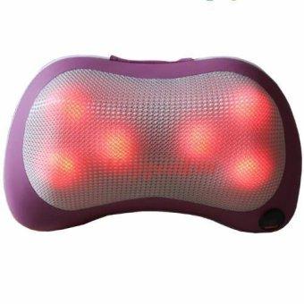Gối massage đầu 6 đá hồng ngoại PL 819 (hồng)