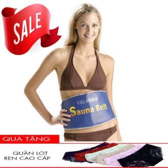 Đai quấn nóng giảm mỡ bụng công nghệ mới Sauna Belt mầu vàng + Tặng quần lót nữ gợi cảm
