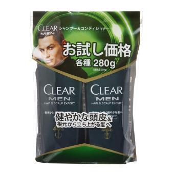 Kết quả hình ảnh cho Bộ dầu gội và dầu xả Clear Men 280g