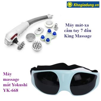 Bộ Máy mát-xa cầm tay 7 đầu King Massage và Máy massage mắt