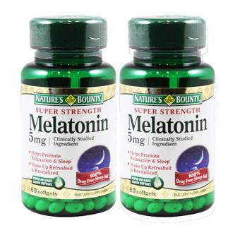Bộ 2 hộp viên uống hỗ trợ giấc ngủ Nature's Bounty Super Strength Melatonin 5mg 60 viên