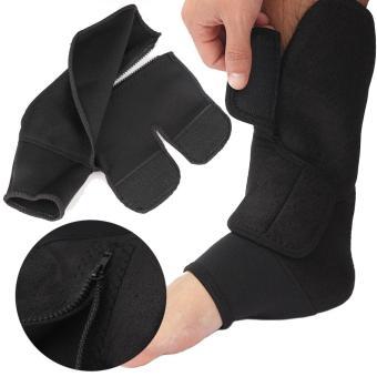 Băng bảo vệ cổ chân có khóa dán và khóa zip tiện lợi (Đen)
