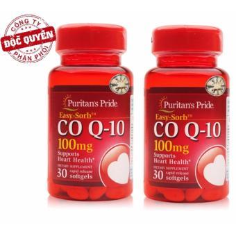 Bộ 2 Viên uống hỗ trợ tim mạch Puritan's Pride Q-Sorb Co Q-10 100mg 30 viên