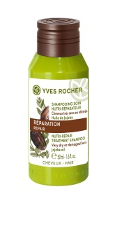 Dầu gội nuôi dưỡng và phục hồi tóc hư tổn tinh dầu Jojoba Yves Rocher 50ml