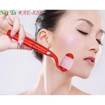 Cây lăn massage mặt hỗ trợ làm trẻ hóa làn da, làm mờ vết chân chim (Đỏ)