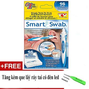 Dụng cụ lấy ráy tai an toàn Smart Swab + Tặng kèm que lấy ráy tai có đèn