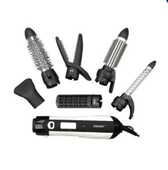 Bộ dụng cụ chăm sóc tóc 6 món Sokany (Đen)