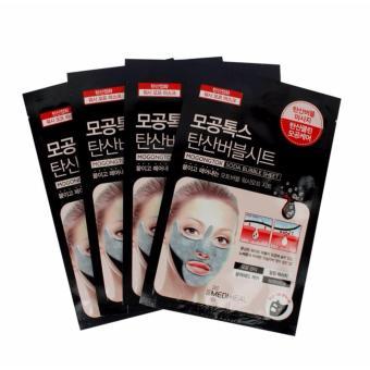 Bộ 4 gói Mặt nạ sủi bọt thải độc làm sạch da và se khít lỗ chân lông Mediheal Mogongtox Soda Bubble Sheet 18ml x4