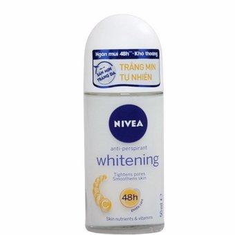 Lăn Khử Mùi Trắng Da Nivea Whitening 48h Anti-Perspirant Roll-On 50ml (Thái Lan)