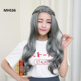 Tóc Bạch Kim Xoăn Lọn MHS36