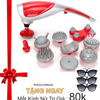 Máy mát-xa 10 đầu Massager King S-1010 + Tặng mắt kính nử thời trang