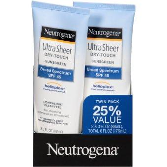 Bộ 2 ống kem chống nắng Neutrogena Ultra Sheer Dry-Touch Sunscreen Broad Spectrum SPF 45 2x88ml