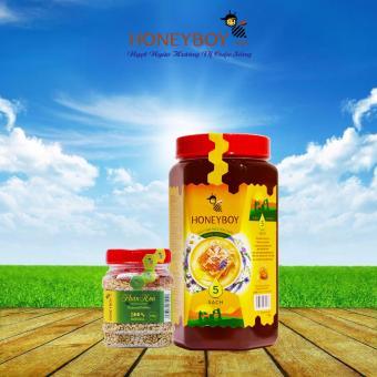 Combo Mật Ong Thiên Nhiên 5 Sạch Honeyboy 1kg và Phấn Hoa Thiên Nhiên Honeyboy 100g