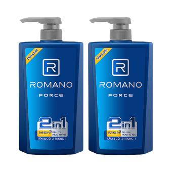 Bộ 2 sản phẩm Tắm gội 2 trong 1 dành cho nam Romano Force 650 g