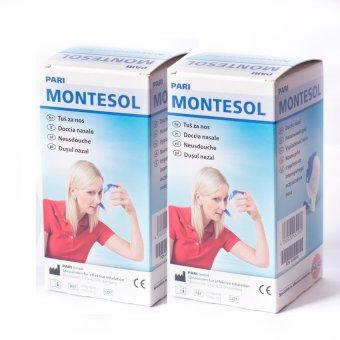 Bộ 2 bình rửa mũi Pari Montesol (xanh trắng)