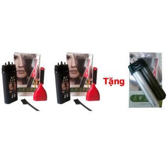 Bộ 2 lược nhuộm tóc thông minh Ailiang + Tặng bộ lõi thay thế (đen)