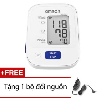 Máy đo huyết áp bắp tay Omron HEM 7121 (Trắng) + Tặng bộ đổi nguồn