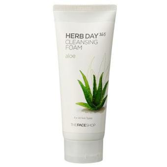 Sữa Rửa Mặt Cung Cấp Nước Herb Day 365 Cleansing Foam Aloe 300Ml/10.1 Us Fl.Oz.