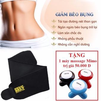 Đai nịt bụng giảm mỡ Sweat Belt (Đen) + Tặng 1 máy Massage 3 chân Mimo